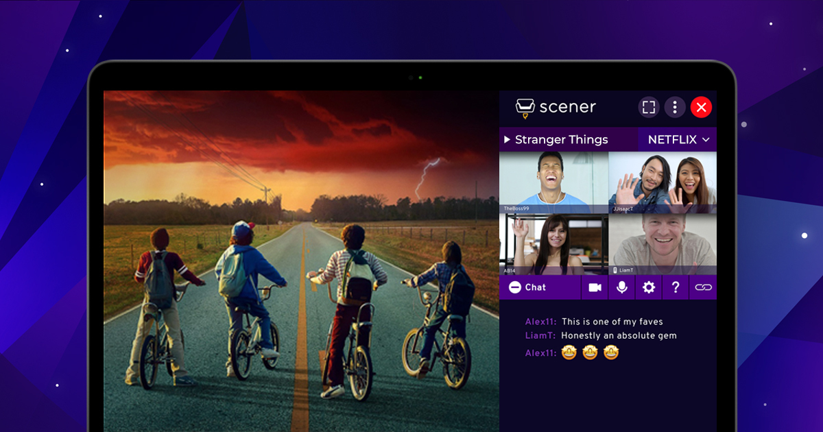 Scener – Watch Netflix and more with friends